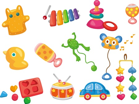 rattle: Vector toy icons. Baby toys  Illustration