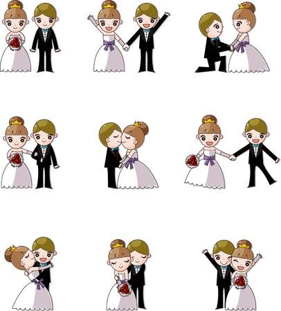 set of wedding ,Bridegroom and Bride