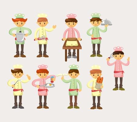 Chef de dibujos animados icono Foto de archivo - 12816559