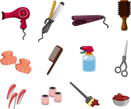 combs: hairdressing KIT  Illustration