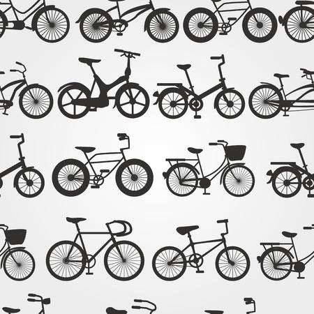복고풍 자전거 배경 일러스트
