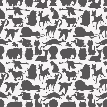 Seamless animals silhouettes  Vector