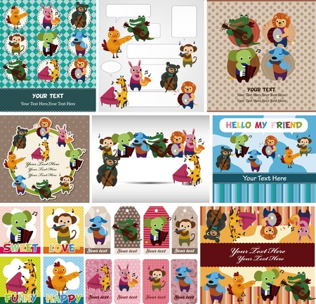 accord�on: carte musicale animaux jeu