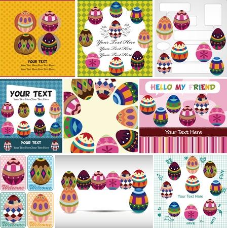 easter egg card Stock Vector - 12949017
