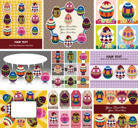 easter egg card Stock Vector - 12949022