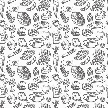 pan con mantequilla: patr�n alimentario sin fisuras Vectores