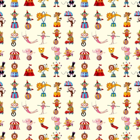 seamless circus pattern  Vector