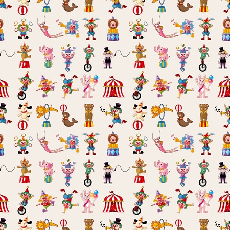 cartoon circus: seamless circus pattern