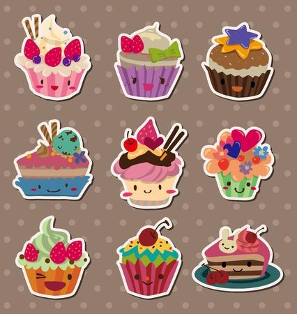magdalenas: pegatinas para pasteles