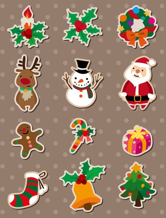 xmas stickers Vector