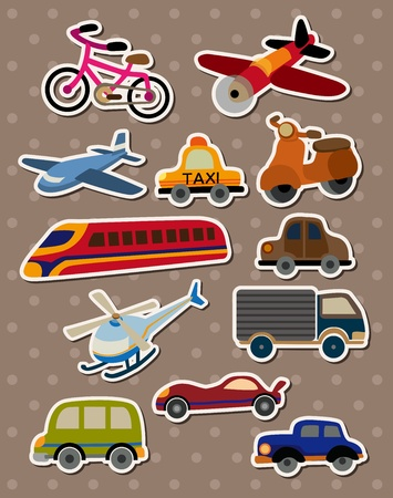 Transport stickers Vectores