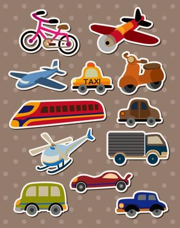 cartoon car: Pegatinas de transporte