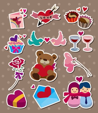 love ,stickers Vector