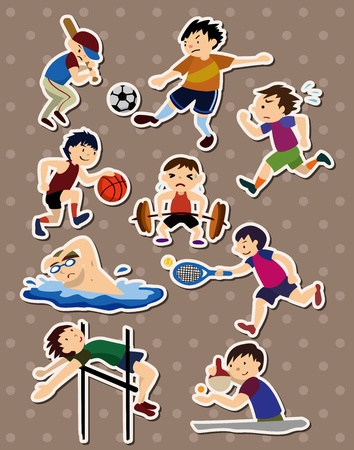 sport stickers Stock Vector - 13056768