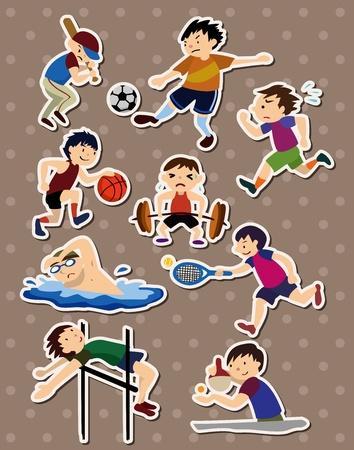 sport stickers Vector
