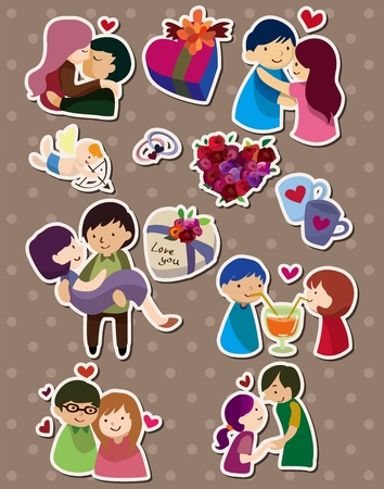 angel roses: love stickers