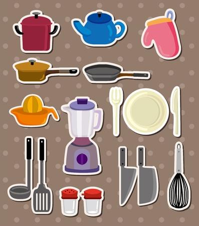 licuadora: pegatinas de cocina Vectores