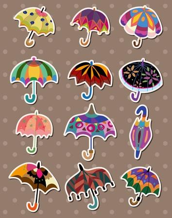 umbrella stickers Stock Vector - 13122078