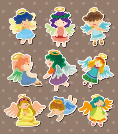 angel stickers Stock Vector - 13122074