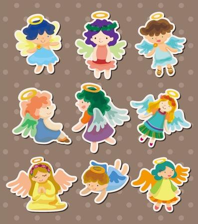angel stickers Stock Vector - 13122074