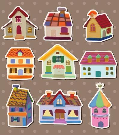 home moving: pegatinas de la casa