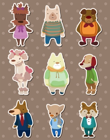 dog stickers Vector
