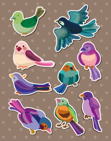 stickers: bird stickers Illustration