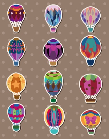 air sport: cartoon hot air balloon stickers