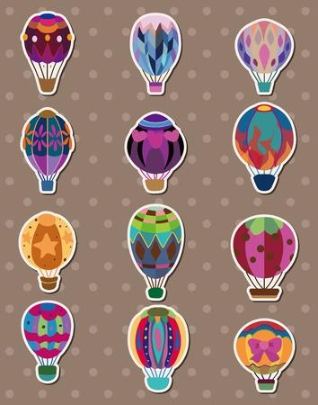 hot air: cartoon hot air balloon stickers