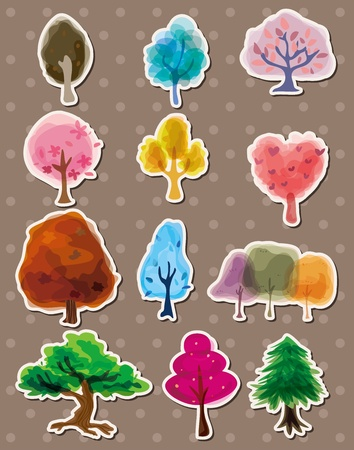 tree stickers Stock Vector - 13122083