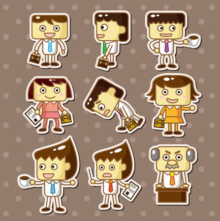 office worker stickers Stock Vector - 13150098