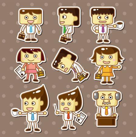 office worker stickers Stock Vector - 13150098