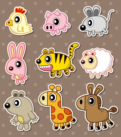 the reptile: animal stickers
