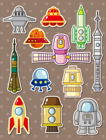 rocket stickers Vector