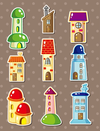 residential neighborhood: house stickers
