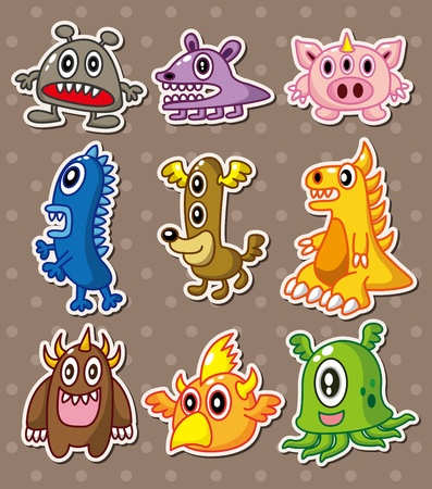 monster stickers Vector