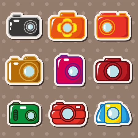 camera stickers Stock Vector - 13150102