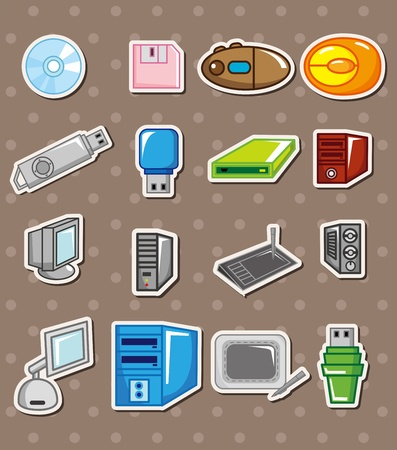 computer stickers Vector