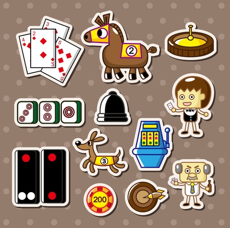 casino stickers Stock Vector - 13201271