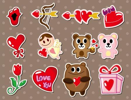 amor: Liebe Aufkleber