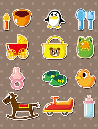 baby stickers: baby stickers Illustration