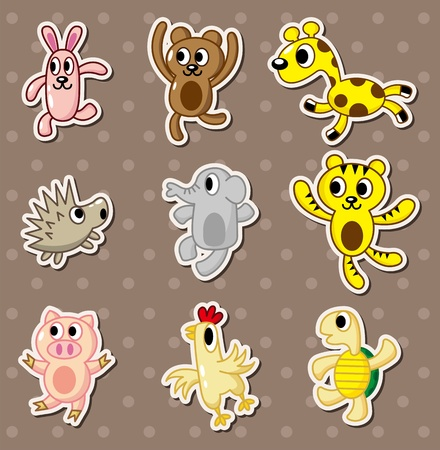 animal stickers Vector