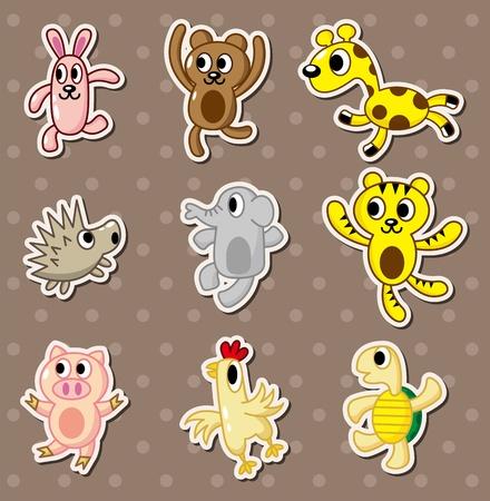 animal stickers Stock Vector - 13228017