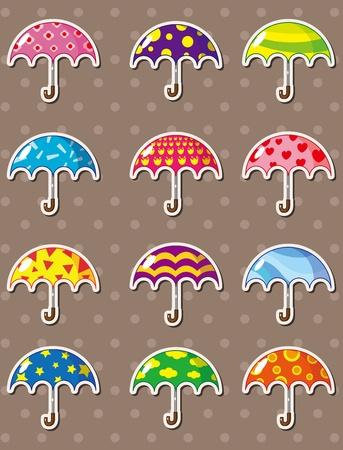 umbrella stickers Stock Vector - 13228019