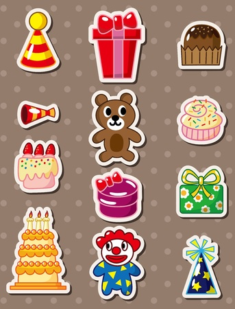 birthday stickers Stock Vector - 13250261