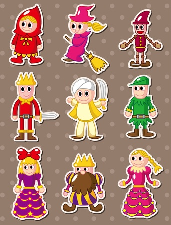 story people stickers Vector