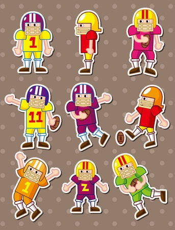 football player stickers Vector