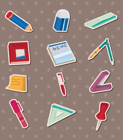 stationery stickers Stock Vector - 13397477