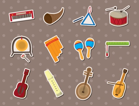musical stickers Vector