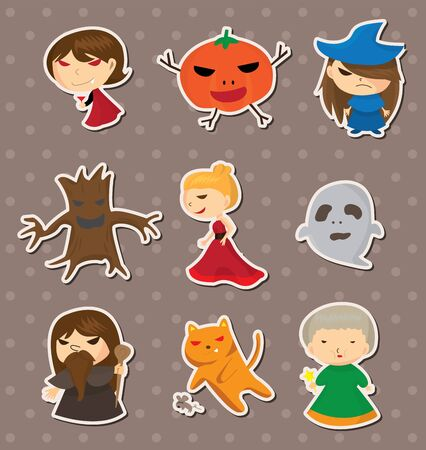 Halloween stickers Stock Vector - 13397565